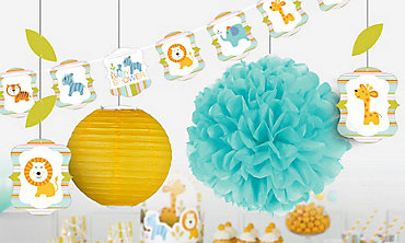 happy jungle boy decorations - Boy Baby Shower Decorations