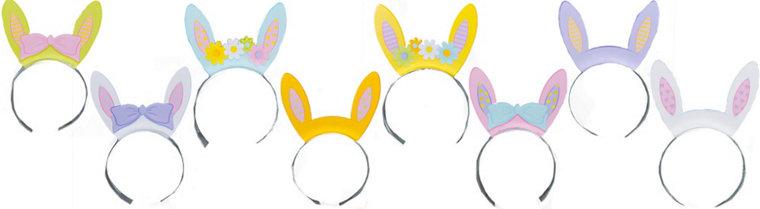 Bunny Ears Headbands 8ct