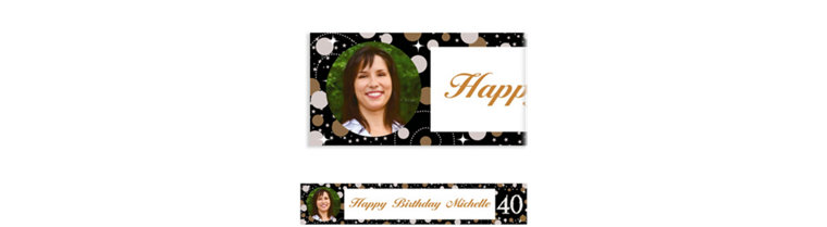 Custom Sparkling Celebration 40 Photo Banner