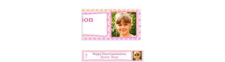 Custom Simple Cross and Diamonds Photo Banner