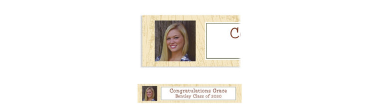Custom Scroll Wood Photo Banner