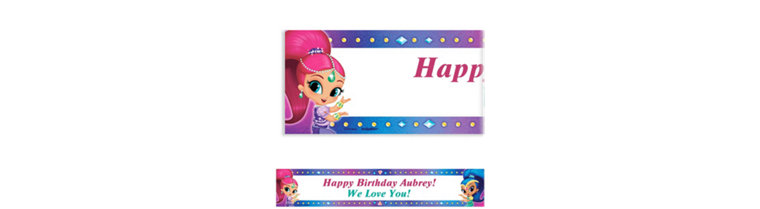 Custom Shimmer and Shine Banner