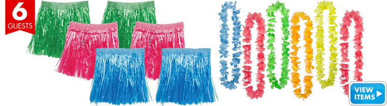 Adult Luau Party Pack for 6 Guests
