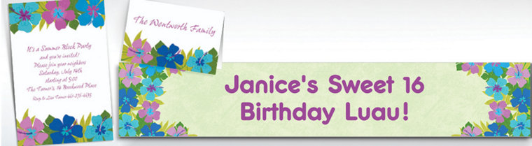 Custom Floral Paradise Cool Invitations & Thank You Notes
