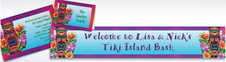 Custom Tiki Island Invitations & Thank You Notes