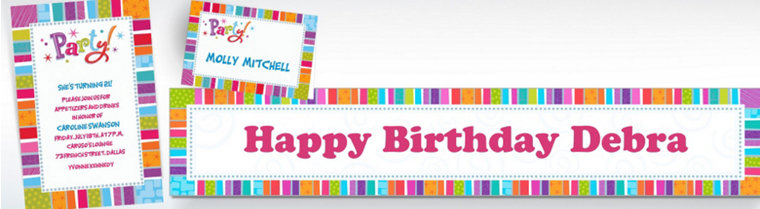 Custom Radiant Happy Birthday Invitations & Thank You Notes