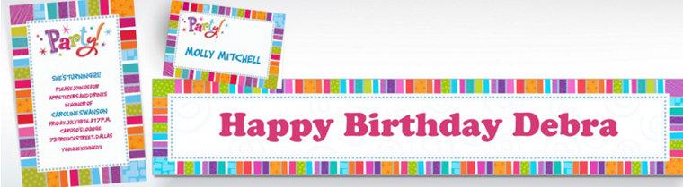Custom Radiant Happy Birthday Invitations & Thank You Notes