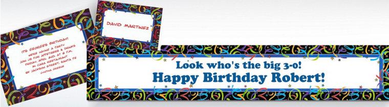 Custom Let's Celebrate Birthday Invitations & Thank You Notes