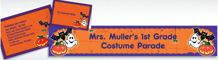 Custom Scared Silly Halloween Invitations & Thank You Notes