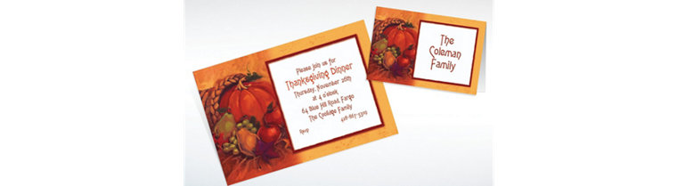 Custom Harvest Still Life Thanksgiving Invitations & Thank You Notes