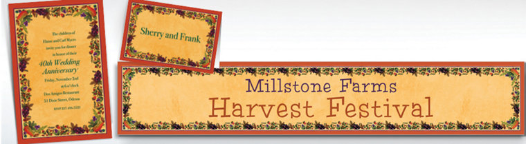 Custom Thanksgiving Medley Invitations & Thank You Notes