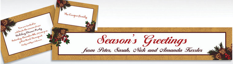 Custom Holiday Splendor Invitations & Thank You Notes