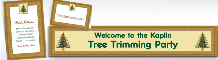 Custom Victorian Tree Invitations & Thank You Notes