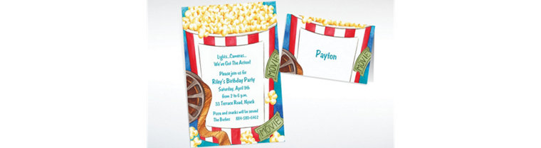 Custom Movie Night Invitations & Thank You Notes