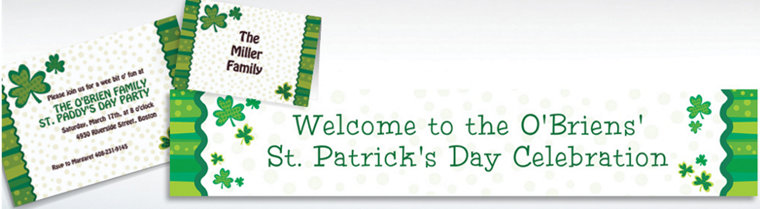 Custom Lucky Wishes St. Patrick's Day Invitations & Thank You Notes