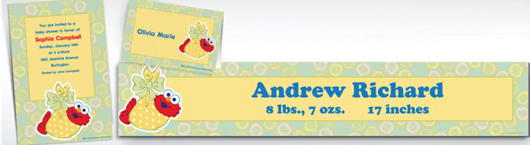 Custom Baby Elmo Baby Shower Invitations & Thank You Notes