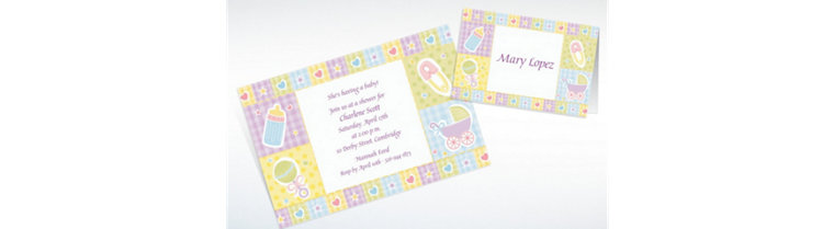 Custom Baby's Nursery Baby Shower Invitations & Thank You Notes