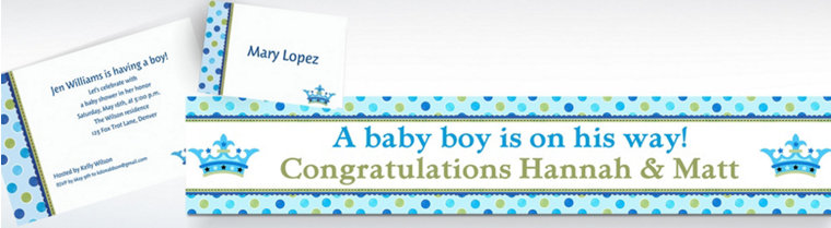 Custom Little Prince Baby Shower Invitations & Thank You Notes