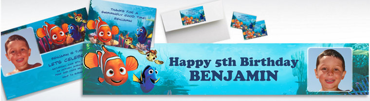 Custom Finding Nemo Invitations & Thank You Notes