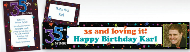 Custom The Party Continues 35th Birthday Invitations