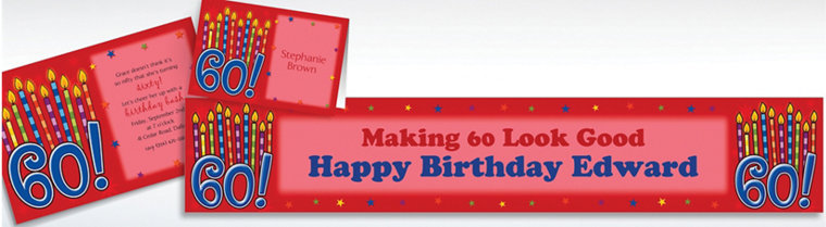 Custom Great Birthday 60th Invitations