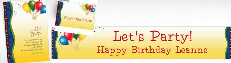 Custom Punchy Birthday Invitations & Thank You Notes
