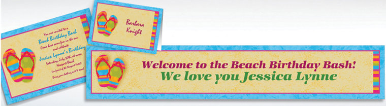 Custom Flip Flops Summer Invitations & Thank You Notes
