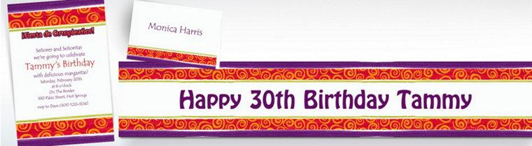 Custom Birthday Cumpleanos Invitations & Thank You Notes
