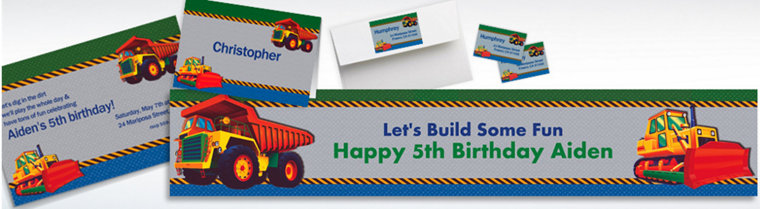 Custom Construction Invitations & Thank You Notes