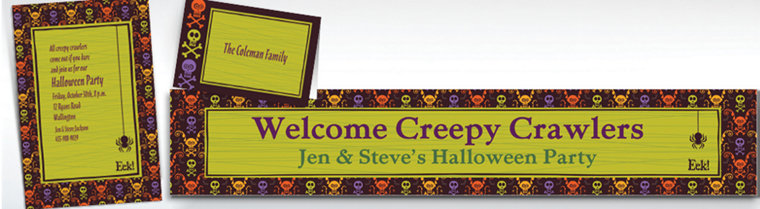 Custom Chills & Thrills Halloween Invitations & Thank You Notes