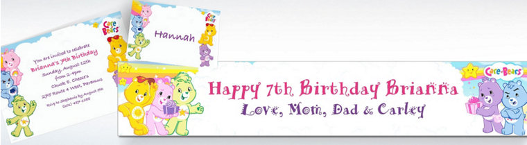 Custom Care Bears Invitations & Thank You Notes