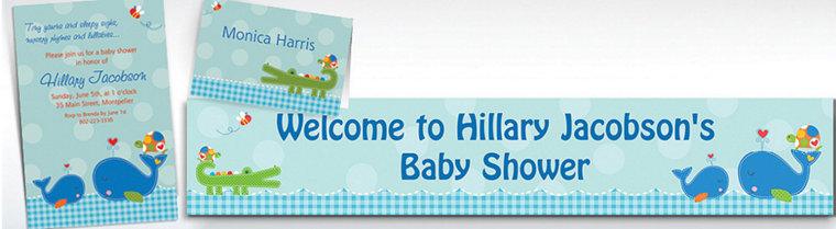Custom Ahoy Baby Shower Invitations & Thank You Notes