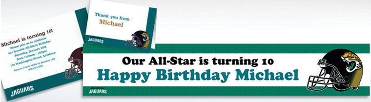 Custom Jacksonville Jaguars Invitations & Thank You Notes