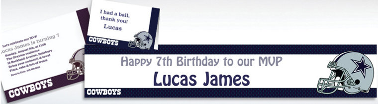 Custom Dallas Cowboys Invitations & Thank You Notes