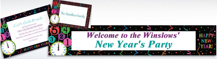 Custom Wild New Year Invitations & Thank You Notes