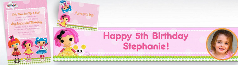 Custom Lalaloopsy Invitations & Thank You Notes