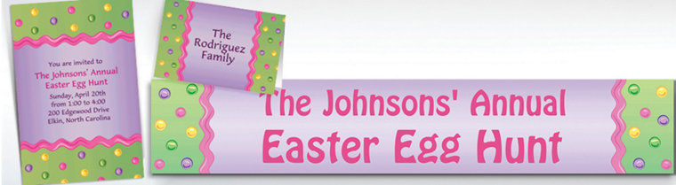 Custom Happy Easter Egg Invitations & Thank You Notes