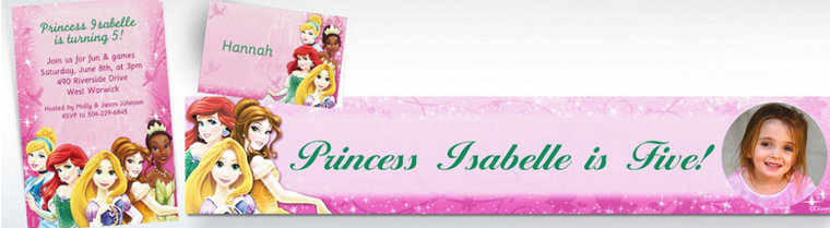 Custom Disney Princess Invitations & Thank You Notes