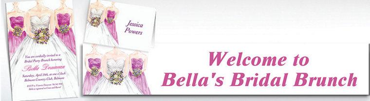 Custom Bridesmaids Bridal Shower Invitations & Thank You Notes