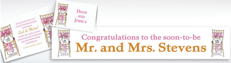 Custom Mr. And Mrs. Right Bridal Shower Invitations & Thank You Notes