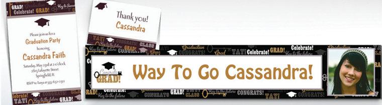 Custom Key To Success Graduation Invitations & Thank You Notes