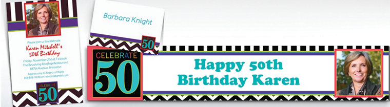 Custom 50th Birthday Invitations & Thank You Notes