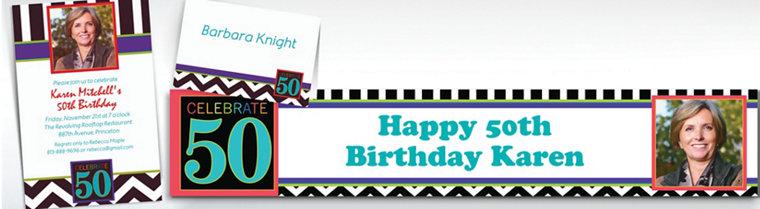 Custom 50th Birthday Invitations & Thank You Notes