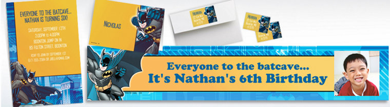 Custom Batman Invitations & Thank You Notes