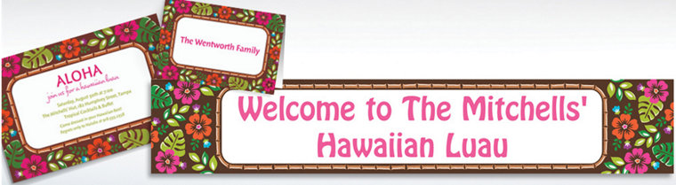 Custom Summer Luau Invitations & Thank You Notes