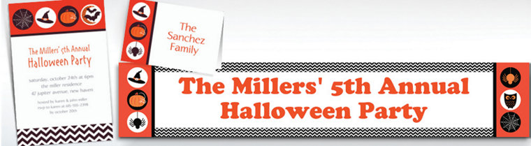 Custom Modern Halloween Invitations & Thank You Notes