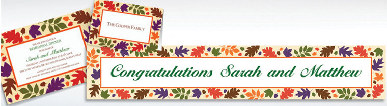 Custom Autumn Warmth Invitations & Thank You Notes