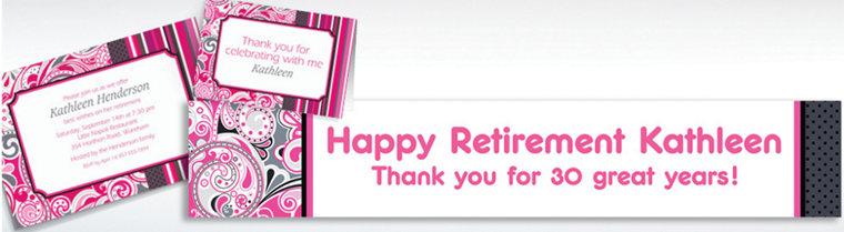 Custom Pink Paisley Invitations & Thank You Notes
