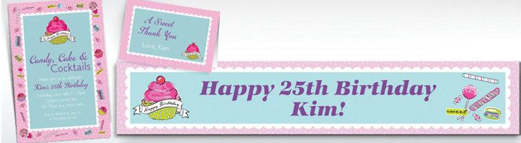 Custom Birthday Sweets Invitations & Thank You Notes