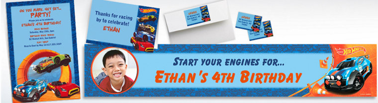 Custom Hot Wheels Wild Racer Invitations & Thank You Notes